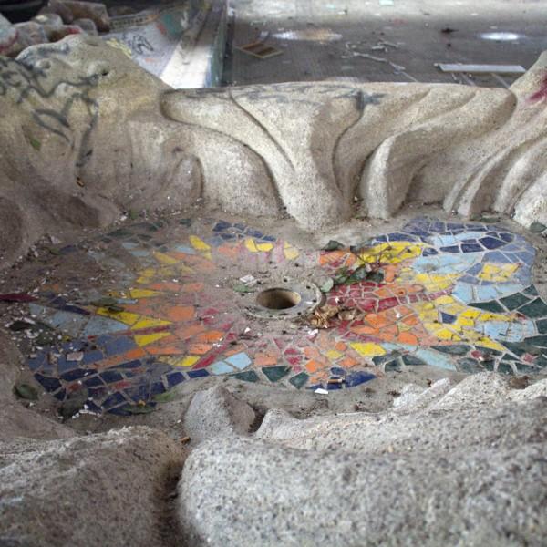 Detail eines Kinderbeckens