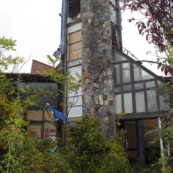 Turm der großen Wasserrutsche