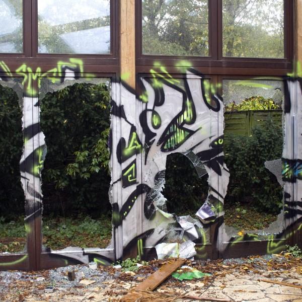 Zerstörung im Wintergarten