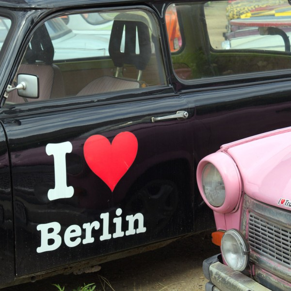 I love Berlin am Trabi