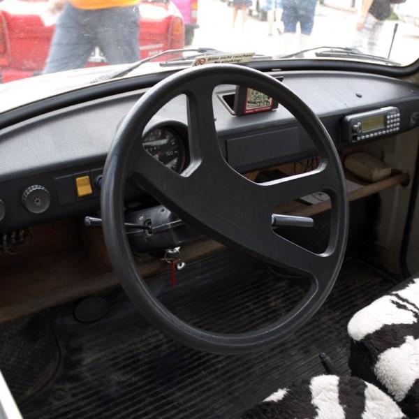 Trabisafari - Trabi Cockpit