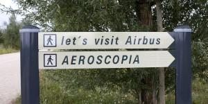 Wegweiser zu den Airbus-Werken