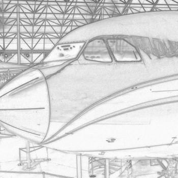 Airbus Bleistiftzeichnung