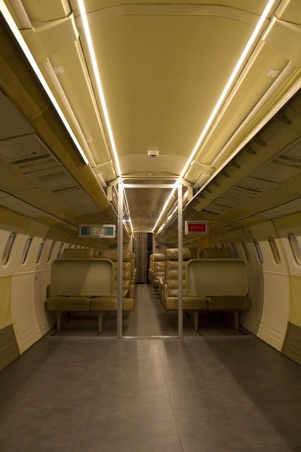 Concorde Kabine in der Airbus Ausstellung