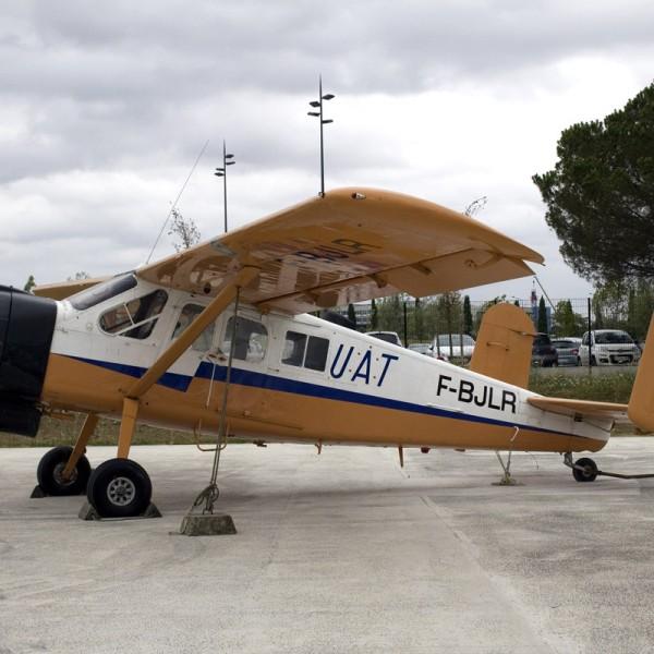 Propellerflugzeug bei Airbus Toulouse
