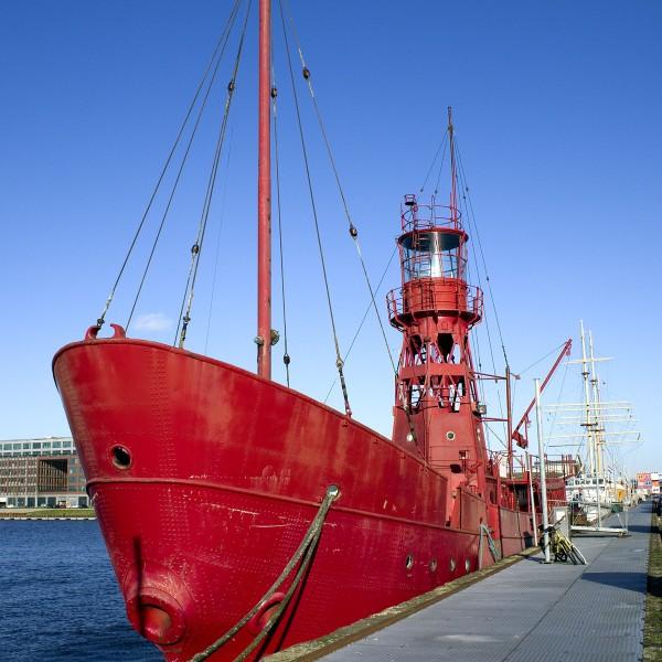 Feuerschiff im Hafen Amsterdam
