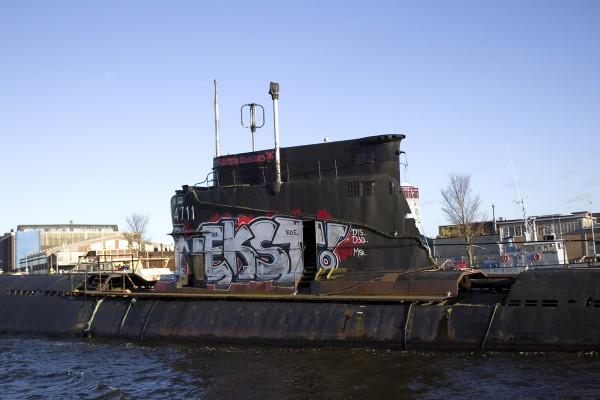 U-Boot im Hafen Amsterdam