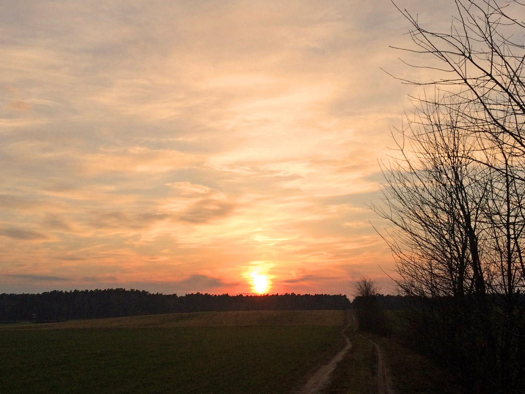 Sonnenuntergang bei Wandlitz
