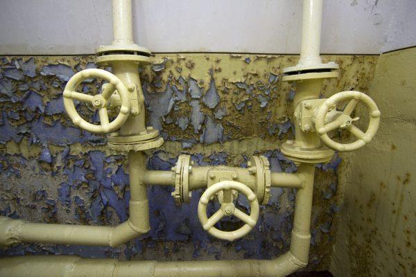 Details im verlassenen Bunker